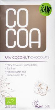 Raw Coconut Chocolate 50gr Bio Cocoa 5902565210045 Granos De Cacao Cocoa Libre De Gluten