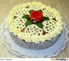 Ořechový dort s pudinkovým krémem Desserts, Food, Cakes, Meal, Deserts, Essen, Hoods, Dessert, Pastries