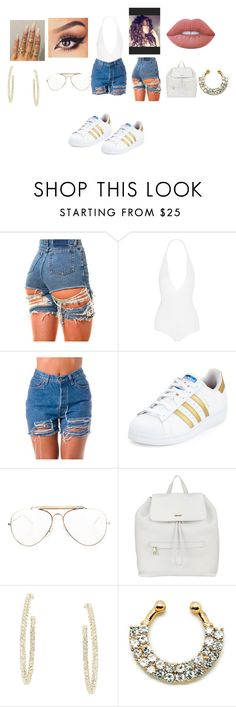 """""""Outfit#285"""" by martin-ilene ❤ liked on Polyvore featuring Givenchy, adidas, CÉLINE, DKNY, BCBGMAXAZRIA and Lime Crime"""