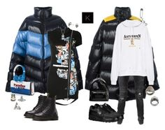 """""""Untitled #4119"""" by kimberlythestylist ❤ liked on Polyvore featuring Raf Simons, Dsquared2, Dr. Martens, Gucci, Alexander McQueen, Vivienne Westwood, Kasun, Beats by Dr. Dre, Balmain and Vetements"""