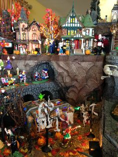 We love the TP'ed trees!   D56 Halloween Village