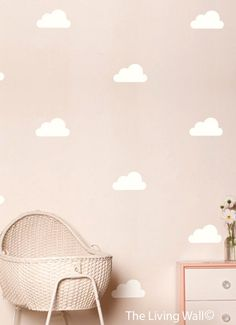 Happy Cloud Decals Cloud Decal White Cloud Wall by LivingWall