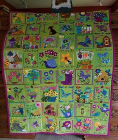 Anita Goodesign quilt designs: Mylar Spring (I used angelina fibers instead of mylar), Butterflies and Bees, and Time in a Garden. Machine Embroidery Quilts, Art Quilting, Machine Embroidery Projects, Embroidery Supplies, Beaded Embroidery, Hand Embroidery, Embroidery Designs, Anita Goodesign, Embroidered Quilts