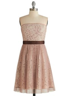 Dainty Delicatesse Dress. This strapless party dress by Ryu is intricate and sweet! #pink #modcloth