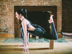 Low Lunge Block Variation | yoga