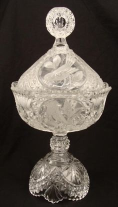 Fine crystal dish