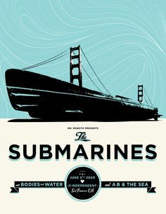 GigPosters.com - Submarines, The - Bodies Of Water - A B & The Sea