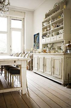 Gorgeous dining room whites