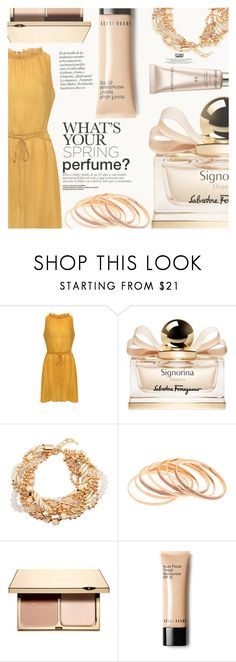 """""""What are your must-haves for spring?"""" by eclectic-chic ❤ liked on Polyvore featuring beauty, Salvatore Ferragamo, Clarins, CC, springessentials, yoins and springperfume"""