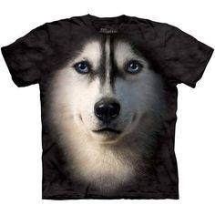 The Mountain SIBERIAN HUSKY FACE T-SHIRT Big Huskie Dog Lover Love Tee S-3XL #TheMountain #GraphicTee