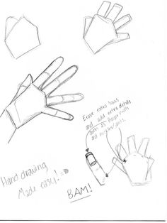 How to draw a simple hand by ~CunningSamurai on deviantART