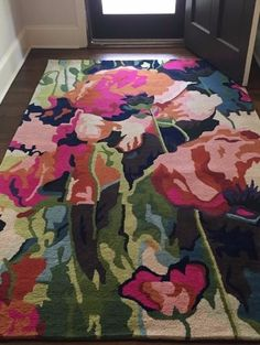 I could see this in an all white room - Brilliant Poppies Rug