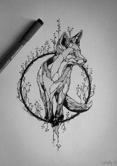 Tatto Ideas 2017  Tattoo design : Fox onInspirationde  Tatto...