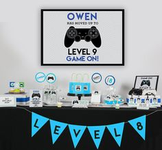 Video Game Favor Tag with Black Controller - Printable Video Game Party Favor Tags by Printable Studio Birthday Party Games, 11th Birthday, Birthday Party Decorations, Video Game Ps4, Video Game Party, Rachel Wilson, Photos Booth, Party Favor Tags, Backdrops For Parties