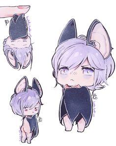Anime Chibi, Kawaii Chibi, Cute Chibi, Kawaii Anime, Manga Anime, Anime Style, Kanato Sakamaki, Diabolik Lovers Ayato, Vampire Boy