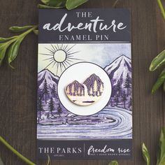 Adventure Enamel Pin 1.25 Inch from Freedom Rise | Art Apparel