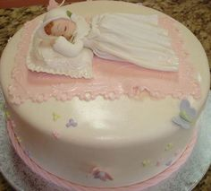 Beautiful Baptism Baby Girl with Gown and Bonnet and a little ribbon with bow placed on her back these baby can be use in Favors , Cake Decorations ,Center pieces and other Baby Baptism or Christening