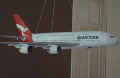 This airplane paper model is a Qantas Airline Airbus A380-800, avariant of thedouble-deck, wide-body, four-engine jet airliner Airbus A380, the papercraf