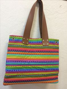 Bolsa com tecido da Renata Blanco,projeto de aluna