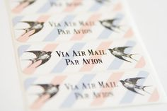 Labels Via Air Mail by LaPapierre on Etsy