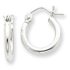 """Everyone needs a pair of earrings like this - silver and lightweight.  Snap them on with the easy click-down clasp which allows them to move slightly when you hold a phone up to your ear, making it the most comfortable ever type of earring. This earring has a 2mm wide """"tube."""" Also available in large, larger, and largest sizes."""