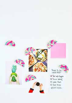 Now that you've your year reviewed and goals set, its time to organize and stick up your to-do list with these DIY color block magnets. Check it out here http://enthrallinggumption.com/get-organizing-with-diy-color-block-magnets/