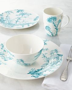 Lenox Scalamandre by Four-Piece Toile Dinnerware Place Setting on shopstyle.com