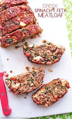 Greek Spinach and Feta Meatloaf