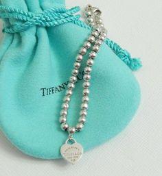 f660a6b34 Tiffany & Co Silver Return To Heart Tag Charm 4mm Bead 7
