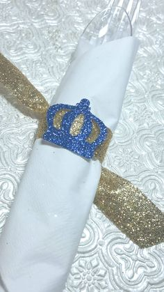 Royal Little Prince crown napkin rings with by ClassyFabCharm