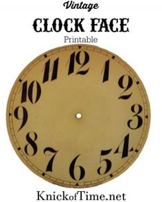 7 clock face printables