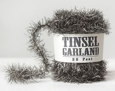 Tinsel Garland  Pewter Shimmer Vintage Style by smilemercantile, $17.50