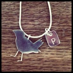 Handmade Sterling Silver Bird Necklace on WeShop @InThePowderRoom. New mom? Sweet 16? Options available.