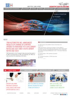 ZF / TRW Automotive trusts their website design to Commercial Progression, read the full case study here.   Commercial Progression enabled us to leverage Drupal to create a much more appealing and dynamic web presence, to support a truly global brand like TRW.  Lynette Jackson, TRW Global Communications Director  OVERVIEW The TRW.com website is the primary marketing channel for the company's automotive products and services.