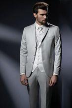 Trajes brillantes para hombres ropa formal de negocios ternos novio vestido de fiesta fumar casamento chaqueta del vestido de boda ( Jacket + pants + vest + tie )(China (Mainland))