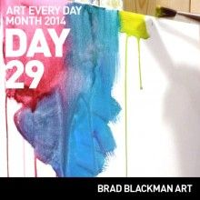Colorful Drips - Day 29 of Art Every Day Month 2014 #AEDM14