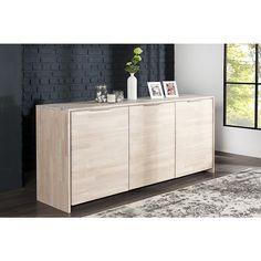 Modern dressoir wild oak 180cm wit geolied - 36175