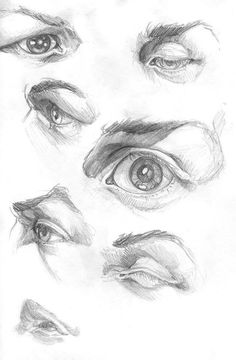 Eye drawing ideas and inspiration. Learn how you can draw eyes step by step. This tutorial is perfect for all art enthusiasts. Eye Pencil Drawing, Pencil Art Drawings, Art Drawings Sketches, Life Drawing, Figure Drawing, Drawing Faces, Body Drawing, Anatomy Sketches, Anatomy Drawing