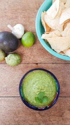 Avocado Tomatillo Salsa - Devour Nutrition Avocado Tomatillo Salsa, Tomatillo Recipes, Guacamole, Allergy Free Recipes, Healthy Recipes, 17 Day Diet, Mexican Tacos, Mexican Food Recipes, Ethnic Recipes