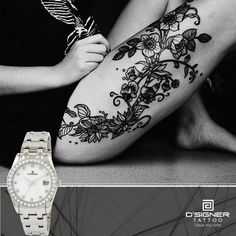 Inked Skin= Sexiness.. Inked Watch= Classiness! #DSIGNERWatches #DSIGNERTattoo #since1991 #ILoveMyTime #nature  #time #tattoos #tattoed #tattoo #tattooart #art #bodyart #inked #birds #story #caption #win #engraved #watch #watches #contest #luxury