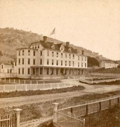 Tamalpais Hotel, San Rafael, Marin County, California, c.1870's, _ Charles Watkins photo _ California History Room