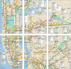 Subway Maps (people in subway are an interesting mix of rich and eccentric)