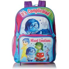 7088bf4a1ef Disney Girls Inside Out Deluxe Backpack with Lunch Kit Inside Out Toys