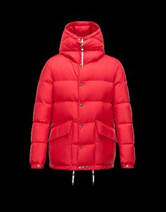 5ab0e4a724e0 Moncler Montclar Men Ultralight cotton fabric Fixed Hood jacket Red 2014  Outlet Sale