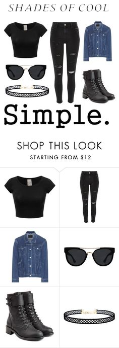 """""""Untitled #372"""" by gigglesanddimples on Polyvore featuring River Island, Balenciaga, Quay, Philosophy di Lorenzo Serafini, CO, LULUS, denimjackets and WardrobeStaples"""