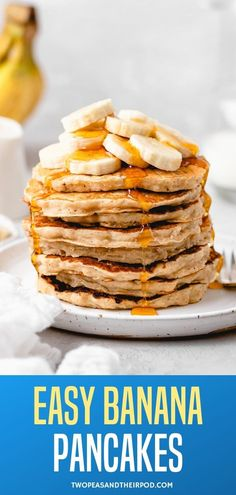 Easy Banana Pancakes – light and fluffy pancakes made with bananas are the perfect way to start any day! Make a big stack because these pancakes go quickly! And if you happen to have leftovers, put them in the freezer! They freeze beautifully! Pancakes Made With Banana, Light And Fluffy Pancakes, Banana Pancakes, Tasty, Yummy Food, Yummy Recipes, Bananas, Frozen, Easy Meals