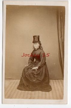 CDV Lady in Riding Habit Holding A Riding Crop by J Cook | eBay