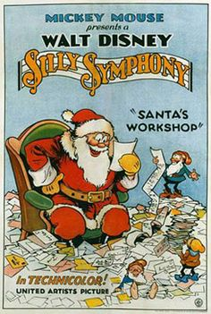 "Disney movie short cartoon poster ""Santa's Workshop"" Silly Symphony"