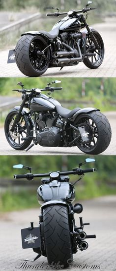 Customs - Customized Harley-Davidson Softail Breakout by Thunderbike Customs (Germany) #harleydavidsoncustombobber #harleydavidsontrikepictures #harleydavidsonsoftailbreakout #harleydavidsonbreakoutcustom
