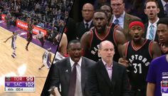 Raptors Coach Loses It After Terrence Ross' Game Tying 3 Is Overturned Because Of Timeke...